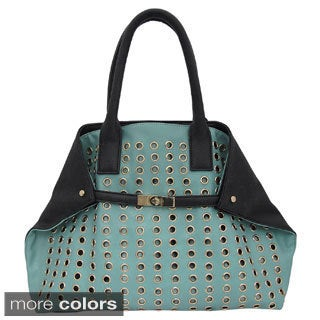 Yoki All-over Eyelets Expandable Tote Bag