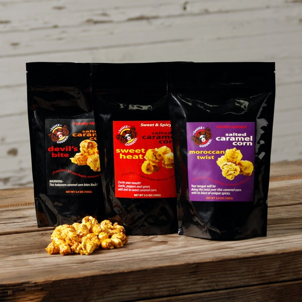 Sauce Goddess 3-pack Salted Caramel Corn