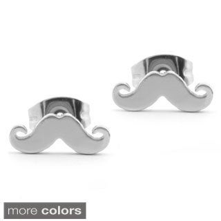 Stainless Steel Mustache Stud Post Earrings