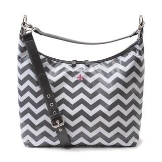 JP Lizzy Glazed Chevron Hobo Style Bag