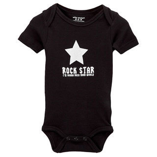 Rock Star Baby Black Bodysuit