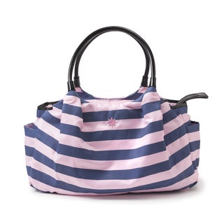 JP Lizzy Navy Pink Stripe Allure Bag