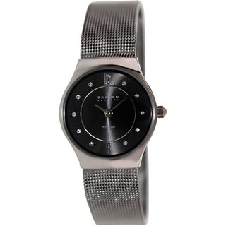 Skagen Women's Titanium Black Dial Stainless Steel Quartz Watch