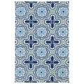 Luau Ivory Tile Indoor/ Outdoor Area Rug (7'6 x 9')