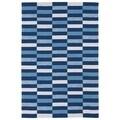 Indoor/ Outdoor Luau Blue Stripes Rug (5' x 7'6)