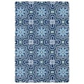 Indoor/ Outdoor Luau Blue Tile Rug (3' x 5')