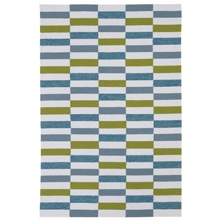 Indoor/ Outdoor Luau Ivory Stripes Rug (7'6 x 9')