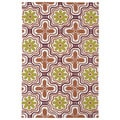 Indoor/ Outdoor Luau Orange Tile Rug (7'6 x 9')