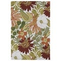 Indoor/ Outdoor Luau Multicolored Jungle Rug (3' x 5')