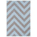 Indoor/ Outdoor Luau Light Blue Chevron Rug (5' x 7'6)