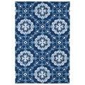 Indoor/ Outdoor Luau Blue Paradise Rug (8'6 x 11'6)