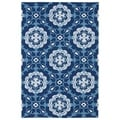 Indoor/ Outdoor Luau Blue Paradise Rug (8'6 x 11'6)