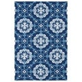 Indoor/ Outdoor Luau Blue Paradise Rug (3' x 5')