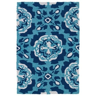 Indoor/ Outdoor Luau Blue Paradise Rug (2' x 3')