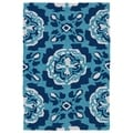 Indoor/ Outdoor Luau Blue Paradise Rug (2' x 3')