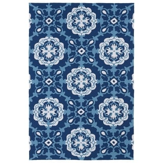 Indoor/ Outdoor Luau Blue Paradise Rug (7'6 x 9')