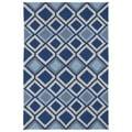 Indoor/ Outdoor Fiesta Moroccan Blue Rug (3' x 5')