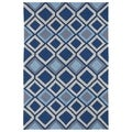 Indoor/ Outdoor Fiesta Moroccan Blue Rug (5' x 7'6)