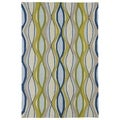 Indoor/ Outdoor Fiesta Waves Multicolored Rug (5' x 7'6)
