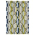 Indoor/ Outdoor Fiesta Waves Multicolored Rug (7'6 x 9')