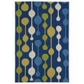 Indoor/ Outdoor Fiesta Lights Blue Rug (9' x 12')