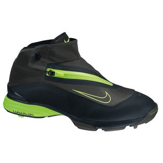 Nike Men's Lunar Bandon Black/ Lime Spikeless Golf Shoes