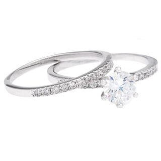 Simon Frank Elegant 1.75 TGW CZ Wedding-Engagement Set