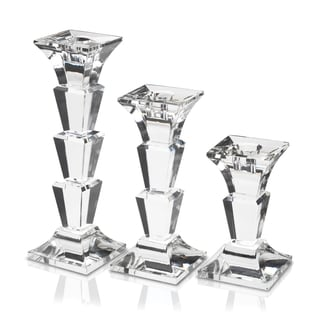 Mikasa Delray Crystal Candlesticks (Set of 3)