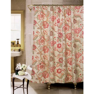 Arden II Cotton Floral Shower Curtain