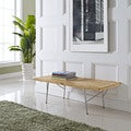 Vantage Natural Small Wood Top Bench
