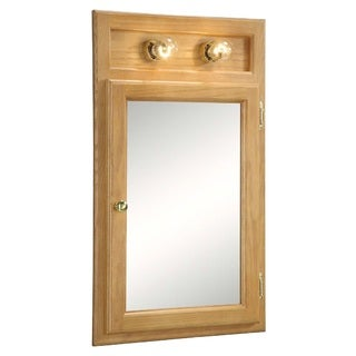 Design House Richland Nutmeg Oak-lighted 1-door Bathroom Mirror