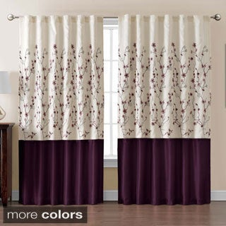 VCNY Sidney Embroidered Color Block 84-inch Curtain Panel