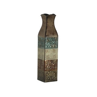 Elements 17-inch EMB Metal Suzani Tile Vase