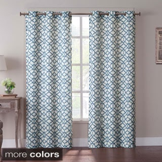 Tanjiers Ikat Grommet 84-inch Curtain Panel Pair