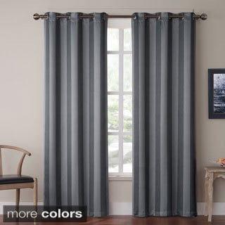 Olsen Stripe Blackout Grommet 84 inch Curtain Panel