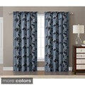 Barclay Flocked with Metallic 84 inch Grommet Curtain Panel