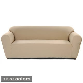 Stretch Poly/Twill One Piece Sofa Slipcover