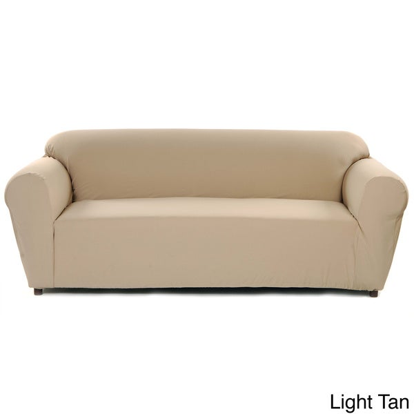 Stretch Poly Twill One Piece Sofa Slipcover Overstock Shopping