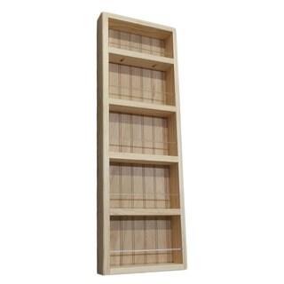 Pine Wood 33-inch On-the-wall Spice Rack II