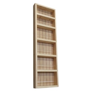 Pine Wood 37-inch On-the-wall Spice Rack II