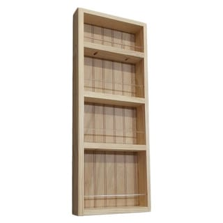 Pine Wood 28-inch On-the-wall Spice Rack