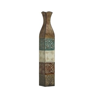 Elements 34-inch EMB Metal Suzani Tile Vase