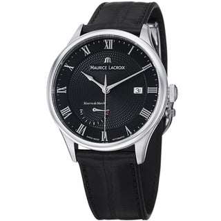 Maurice Lacroix Men's MP6807-SS001-310 MP6807-SS001-310 'MasterPieceTraditional' Black Dial Watch