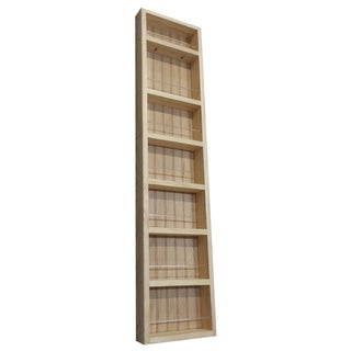 Pine Wood 48-inch On-the-wall Spice Rack II
