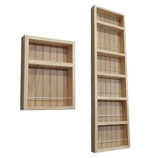 Pine Wood 2-piece 60-inch On-the-wall Spice Rack II