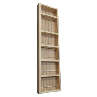 Pine Wood 42-inch On-the-wall Spice Rack II