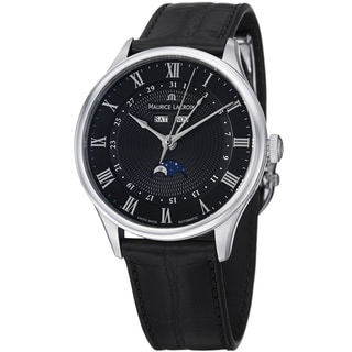 Maurice Lacroix Men's MP6607-SS001-310 MP6607-SS001-310 'MasterPieceTraditional' Black Dial Watch