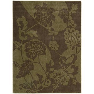 Somerset Floral Brown/ Green Area Rug (2' x 2'9)