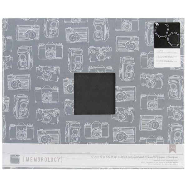 Cloth D-Ring Album 12 X12 - Charcoal