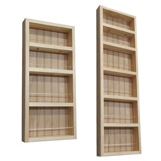 Pine Wood 2-piece 72-inch On-the-wall Spice Rack II